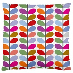 Colorful Bright Leaf Pattern Background Standard Flano Cushion Case (one Side) by Simbadda