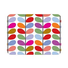 Colorful Bright Leaf Pattern Background Double Sided Flano Blanket (mini)  by Simbadda
