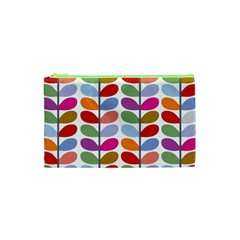 Colorful Bright Leaf Pattern Background Cosmetic Bag (xs) by Simbadda