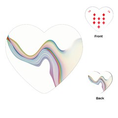 Abstract Ribbon Background Playing Cards (heart)  by Simbadda