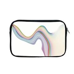 Abstract Ribbon Background Apple Macbook Pro 13  Zipper Case by Simbadda
