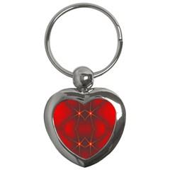 Impressive Red Fractal Key Chains (heart)  by Simbadda