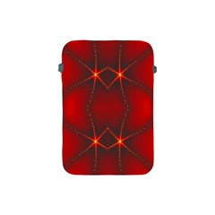 Impressive Red Fractal Apple Ipad Mini Protective Soft Cases by Simbadda