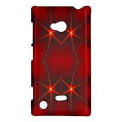 Impressive Red Fractal Nokia Lumia 720 by Simbadda