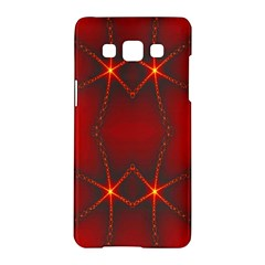 Impressive Red Fractal Samsung Galaxy A5 Hardshell Case  by Simbadda