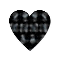 Circular Abstract Blend Wallpaper Design Heart Magnet by Simbadda
