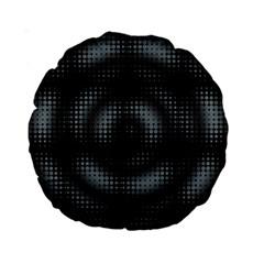 Circular Abstract Blend Wallpaper Design Standard 15  Premium Round Cushions by Simbadda