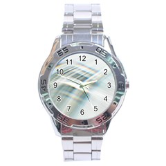 Business Background Abstract Stainless Steel Analogue Watch by Simbadda
