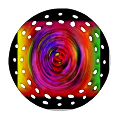 Colors Of My Life Round Filigree Ornament (two Sides) by Simbadda