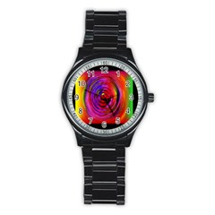 Colors Of My Life Stainless Steel Round Watch by Simbadda