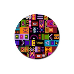 Abstract A Colorful Modern Illustration Magnet 3  (round) by Simbadda