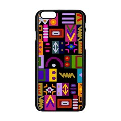 Abstract A Colorful Modern Illustration Apple Iphone 6/6s Black Enamel Case by Simbadda