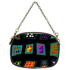 Abstract A Colorful Modern Illustration Chain Purses (two Sides)  by Simbadda
