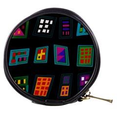 Abstract A Colorful Modern Illustration Mini Makeup Bags by Simbadda