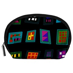 Abstract A Colorful Modern Illustration Accessory Pouches (large)  by Simbadda