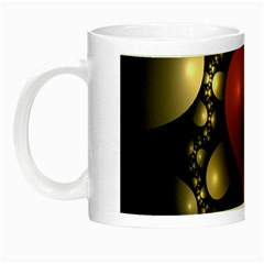 Fractal Of A Red Heart Surrounded By Beige Ball Night Luminous Mugs by Simbadda