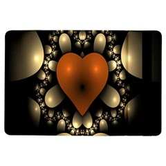 Fractal Of A Red Heart Surrounded By Beige Ball Ipad Air Flip by Simbadda