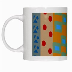Abstract A Colorful Modern Illustration White Mugs