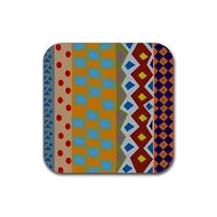 Abstract A Colorful Modern Illustration Rubber Coaster (square)  by Simbadda