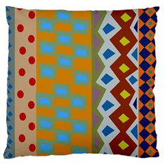 Abstract A Colorful Modern Illustration Large Cushion Case (one Side) by Simbadda