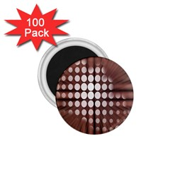 Technical Background With Circles And A Burst Of Color 1 75  Magnets (100 Pack)  by Simbadda