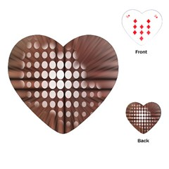 Technical Background With Circles And A Burst Of Color Playing Cards (heart)  by Simbadda