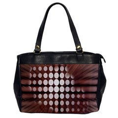Technical Background With Circles And A Burst Of Color Office Handbags by Simbadda
