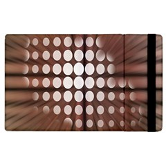 Technical Background With Circles And A Burst Of Color Apple Ipad 2 Flip Case by Simbadda