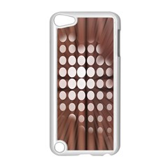 Technical Background With Circles And A Burst Of Color Apple Ipod Touch 5 Case (white) by Simbadda