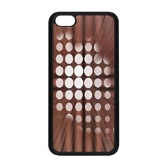 Technical Background With Circles And A Burst Of Color Apple Iphone 5c Seamless Case (black) by Simbadda