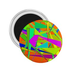 Background With Colorful Triangles 2.25  Magnets