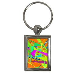 Background With Colorful Triangles Key Chains (rectangle)  by Simbadda