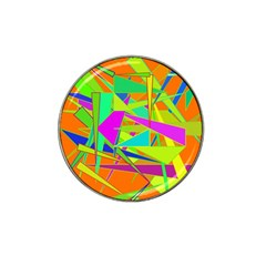 Background With Colorful Triangles Hat Clip Ball Marker (4 Pack) by Simbadda
