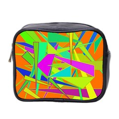 Background With Colorful Triangles Mini Toiletries Bag 2 Side by Simbadda