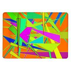 Background With Colorful Triangles Samsung Galaxy Tab 10 1  P7500 Flip Case by Simbadda