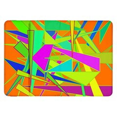 Background With Colorful Triangles Samsung Galaxy Tab 8 9  P7300 Flip Case by Simbadda