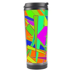 Background With Colorful Triangles Travel Tumbler by Simbadda