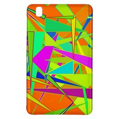 Background With Colorful Triangles Samsung Galaxy Tab Pro 8 4 Hardshell Case by Simbadda