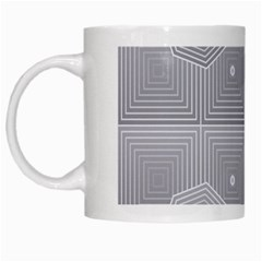Grid Squares And Rectangles Mirror Images Colors White Mugs by Simbadda