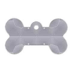 Grid Squares And Rectangles Mirror Images Colors Dog Tag Bone (two Sides) by Simbadda