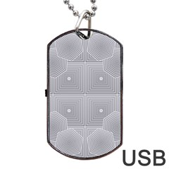 Grid Squares And Rectangles Mirror Images Colors Dog Tag Usb Flash (two Sides) by Simbadda