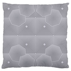 Grid Squares And Rectangles Mirror Images Colors Large Cushion Case (two Sides) by Simbadda