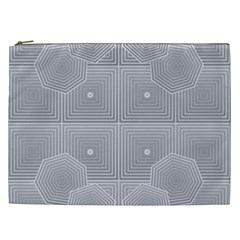 Grid Squares And Rectangles Mirror Images Colors Cosmetic Bag (xxl)  by Simbadda