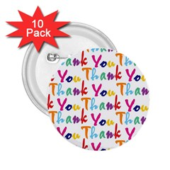 Wallpaper With The Words Thank You In Colorful Letters 2 25  Buttons (10 Pack)  by Simbadda