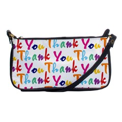 Wallpaper With The Words Thank You In Colorful Letters Shoulder Clutch Bags by Simbadda