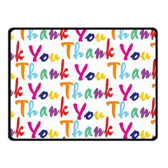 Wallpaper With The Words Thank You In Colorful Letters Fleece Blanket (small) by Simbadda