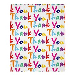 Wallpaper With The Words Thank You In Colorful Letters Shower Curtain 60  X 72  (medium)  by Simbadda