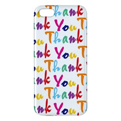 Wallpaper With The Words Thank You In Colorful Letters Apple iPhone 5 Premium Hardshell Case