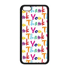 Wallpaper With The Words Thank You In Colorful Letters Apple Iphone 5c Seamless Case (black) by Simbadda