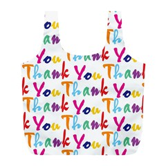 Wallpaper With The Words Thank You In Colorful Letters Full Print Recycle Bags (l)  by Simbadda